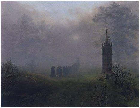 processione con la nebbia
