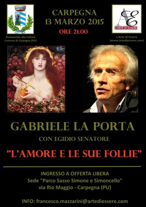 Gabriele La Porta Egidio Senatore Carpegna