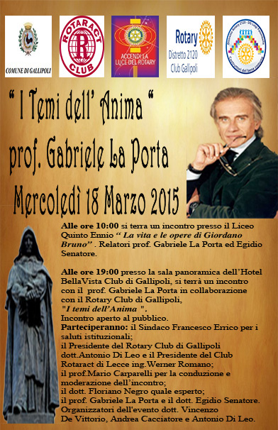Gabriele La Porta Egidio Senatore Gallipoli