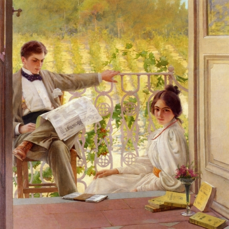 Vittorio Matteo Corcos - An Afternoono on the Porch