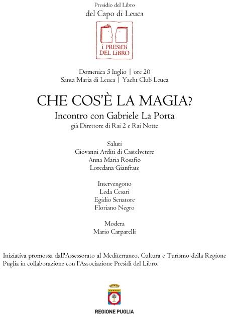 Gabriele La Porta Egidio Senatore Santa Maria di Leuca