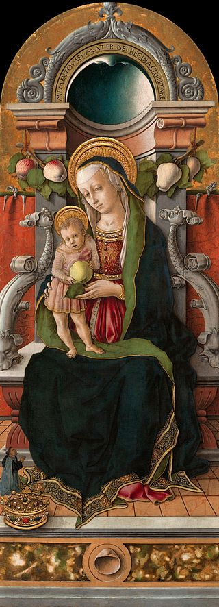 Crivelli_Madonna_and_Child_Enthroned_with_Donor